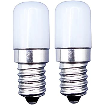 MZMing [2 Pack]E14 LED Bulbo 1.5W Máquina de Coser Bombilla de Reemplazo para 15W Lámpara Halógena Brillante Blanco Cálido 2700K 120lm-No Regulable Calor ...