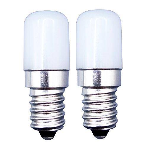 MZMing [2 Stück] E14 LED Lampe 1.5W Kühlschrank Helle LED Glühbirnen, Ersatz für 15W Halogenlampe 6000K Kühles Weiß 120lm nicht dimmbar geringe Hitze für Kühlschrank/Mikrowelle/Nähen Maschine -