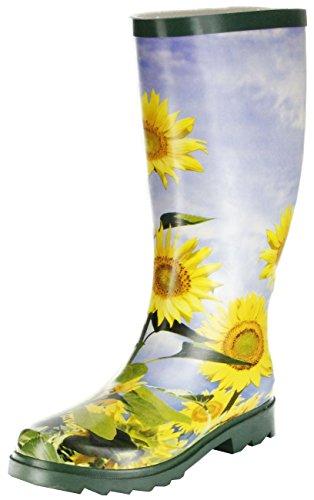 ConWay  Sonnenblume - grün, bottes en caoutchouc femme Vert - Vert