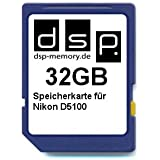 DSP Memory Z-4051557365780 32GB Speicherkarte für Nikon D5100