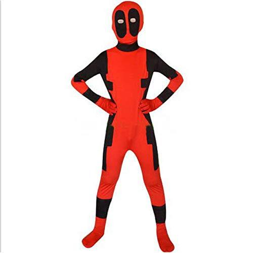 AKCHIUY Deadpool Cosplay Kostime Herren Kostüm Cosplay Fasching Masken Schwert Weihnachten Kostümparty Cosplay Kostüm Deadpool Party Cosplay Kostüm,Red-M