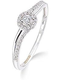 f3c706a2d2b6 estilo de halo anillo de diamante solitario grande centro de diamante en  oro blanco