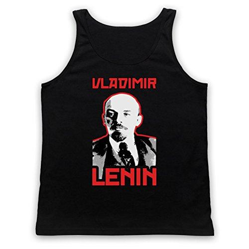 Vladamir Lenin Russia Revolutionary Tank-Top Weste Schwarz