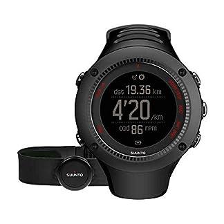 Suunto – Ambit3 Run HR – SS021259000 – Reloj GPS Multideporte + Cinturón de frecuencia cardiaca (Talla M) – Sumergible 50 m – Blanco