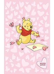 Un Amour de Tapis 24851 Winnie Pink Hearts Tapis pour Chambre d'Enfant Polyamide Rose 100 x 150 cm