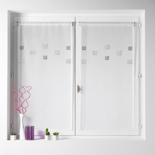 homemaison-hm69431327-paire-de-vitrage-en-etamine-brodee-gribouillis-polyester-gris-60-x-120-cm