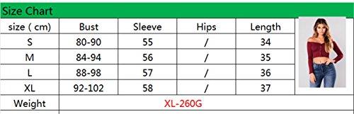 JOTHIN 2018 Scollo a Barca Slim T-Shirt Cropped Manica Lunga Top Fashion Casual Minnie Bluse Spalle Scoperte Eleganti Magliette Donna Verde