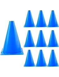 Football Sécurité Cones, iTECHOR 10Pcs 7pouces Cone Terrain de sport Cones de formation pour les enfants et les adultes