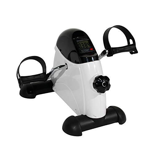 soges Mini Heimtrainer Beintrainer Mini Bike Heimtrainer Armtrainer Hometrainer Ausdauer-Beintrainer,Pedal Exerciser Pedaltrainer für Fuß und Handtrainingstraining mit LCD-Display