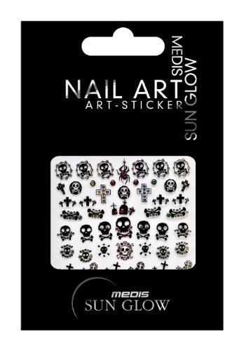 Medis Sun Glow pegatinas de uñas de Halloween Nail Art...