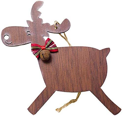 Willlly Christbaum Glocken Weihnachten Deko Hirsch Hirsch Rentier Elch Einfacher Stil Christbaumkugeln Geschenke Christbaum Anhänger Klein Rehe Christmas Garten Täglich Gebrauch Produkt