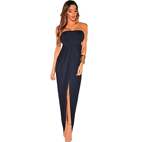 meinice Draped Hollow-out Maxi Dress Black Small