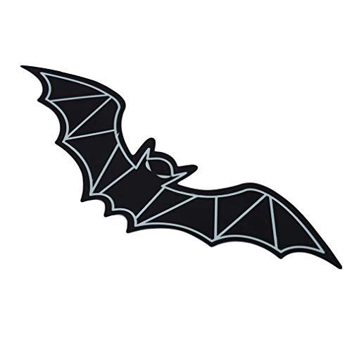 MOONRING Leuchtende Dekorative Wandaufkleber 3D Bat Katze kitty Cartoon Tier Halloween Wandaufkleber Glow In The Dark Wandtattoos, Bat
