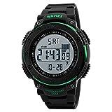 Orologi da polso accessori moda, uomo outdoor impermeabile 3D pedometro calendario cronometro sport orologio da polso