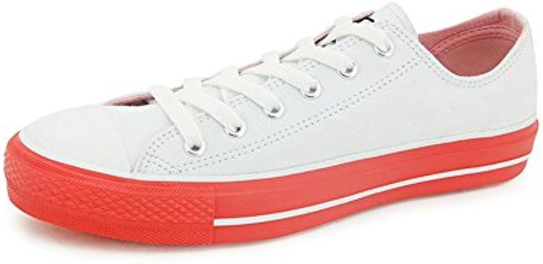 NSX de las mujeres top con cordones de lona multicolor ocasional atlética patín de las zapatillas de deporte ,...