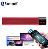 Große Energie 10W HiFi tragbare drahtlose Bluetooth Stereo Soundbar, TF FM USB Subwoofer-Säule für Computer-TV-Telefon Heimkino-System,Red