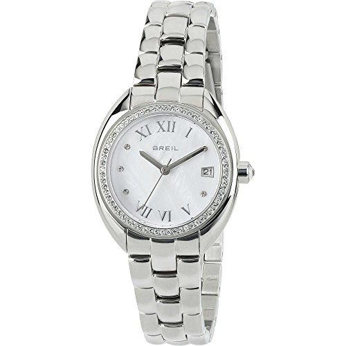 c6ff2e043949 Reloj mujer acero Claridge blanco con piedras Breil