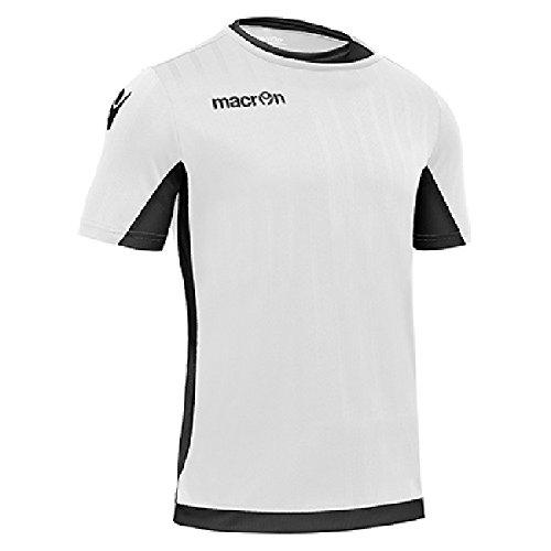 T-Shirt Sportiva Traspirante Maglietta da Calcio Calcetto Macron Kelt Shirt Bianco/Nero