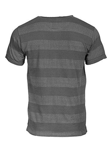 TREVOR'S KLAAS Herren T-Shirt mit Rundhalsausschnitt und breiten Streifen aus Baumwolle und Polyester - soziale fair trade Kleidung, Mode vegan und nachhaltig Color loft, Size S - 2