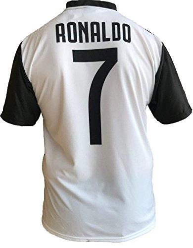 JUVE Maglia Calcio Cristiano Ronaldo CR7 Numero 7 Juventus 2018/2019 Home Replica Ufficiale Autentica