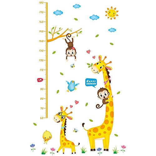 Cartoon messhöhe füße kinderzimmer kindergarten wanddekoration höhe wandaufkleber selbstklebend höhe aufkleber entfernbar