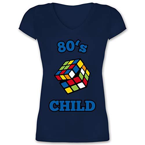0's Child - Zauberwürfel - XXL - Dunkelblau - XO1525 - Damen T-Shirt mit V-Ausschnitt ()