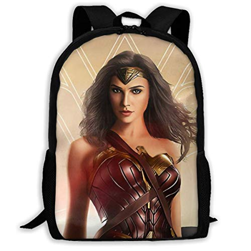 Qfunny Unisex Schultasche Rucksack Wonder Woman School Backpack Lunch Bag Set School Bag Boys Girls Bookbag