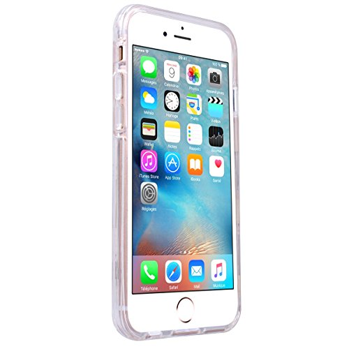 Yokata iPhone 6 / iPhone 6s Hülle Transparent Weich Silikon TPU Soft Case Protective Cover Handyhülle Schutzhülle Durchsichtig Clear Backcover Bumper mit Single Horned Cat Muster + 1 x Kapazitive Fede Delphine
