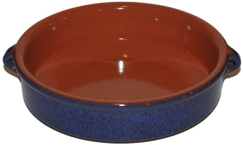 amazing-cookware-25cm-terracotta-round-dish-reactive-blue