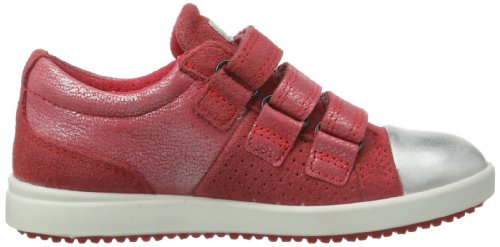 Ecco  Elli, Sneakers basses mixte enfant Rouge - Rot (WHITE/TEABERRY 58365)