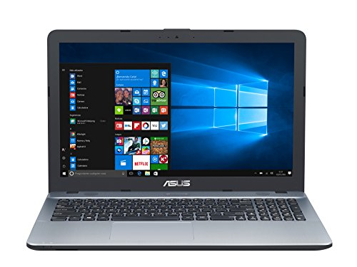 "ASUS D541SA-XO460T - Portátil de 15.6"" HD (Intel Celeron N3060 , RAM de 4 GB, 500 GB HDD, Intel HD Graphics 400, Windows 10 Original) plata degradado - Teclado QWERTY Español"