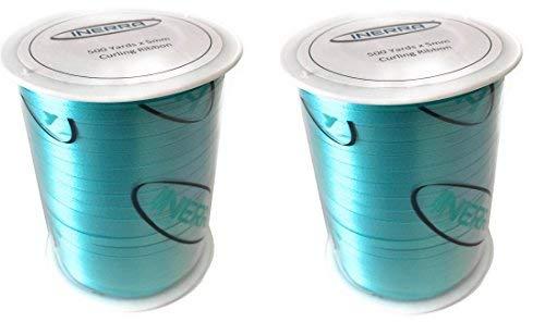 INERRA - Cinta de rizador de globo – 2 bobinas de 500 metros (3000 pies en total) – 5 mm de ancho agua