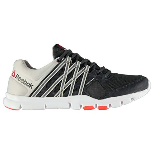 Reebok Herren Yourflex 8 Sportschuhe Turnschuhe Training Schuhe Sneaker Gravel/Steel/Re 9(43)
