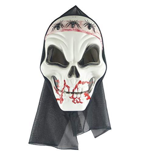 Für Kostüm Erwachsene Opa Unisex - HL Cloud Maske,Unisex Schädel Maske-Halloween Scary Mask Party Kostüm Requisiten for Erwachsene MJ0829