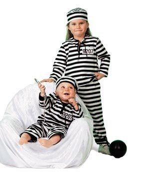 Kostüm Gefangener Baby - Stekarneval Babykostüm Sträfling, Gr. 74