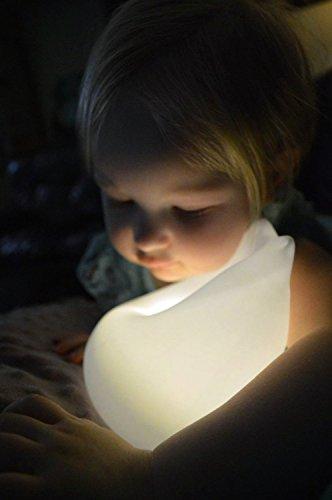 LED Nachtlicht, Florally Kinder Silikon LED Nachtlicht mit 7 Beleuchtung, Stimmung Lampe mit eingebaute Akku, Yoga Lampe, dimmbares Warmweiß/Farbwechsel mit Touch Schalter für Babys Zimmer,Schlafzimmer, Wohnräume, Camping, Picknick Indoor/Outdoor - 7