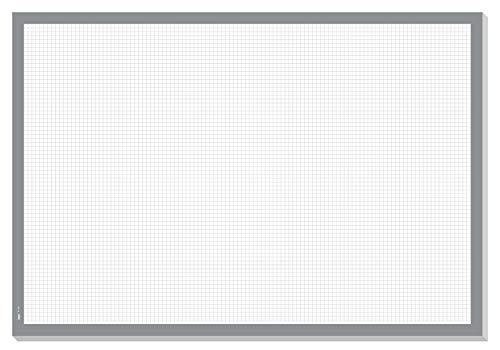 Sigel HO260 Papier-Schreibunterlage zum Abreißen kariert, ca. DIN A2, Notizblock, grau, 30 Blatt