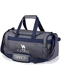 0f09625c0d0f6 CAMEL CROWN Sporttasche 35L Reisetasche Praktische Sport-Tasche mit vielen  Fächern Schultergurt Tragegurt Zweiwege-Reißverschluss…