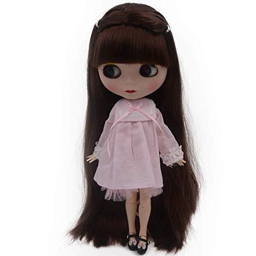CUTEBEE el de 12 Pulgadas muñeca Desnuda es Similar a la muñeca del bjd Blyth, muñecos Personalizados se Pueden Cambiar Maquillaje y Vestido de muñecas DIY