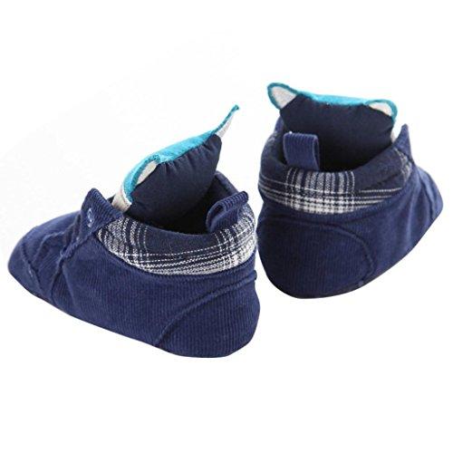 Hunpta Babyschuhe Mädchen Jungen Lauflernschuhe Neugeborenes Baby Kinder Cartoon Prewalker Schnürsenkel rutschfeste weiche Sohle Schuhe (1, Blau) Blau