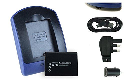 Nv20 Usb (Batterien + Ladegerät (USB/Main/Auto)-0837B für Samsung L70, L83T, L201, NV8, NV10, NV15, NV20, SL201)