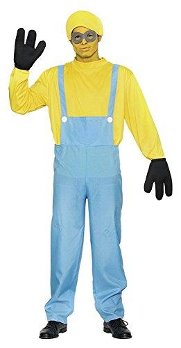Männer Kostüme Minion (KOSTÜM - MINION - Größe 52 (L), Minions Animationsfilm Gehilfen Diener kleine gelbe)