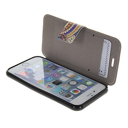 MOONCASE Coque en Cuir Portefeuille Housse de Protection Étui à rabat Case Pour Apple iPhone 6 ( 4.7 inch ) 09