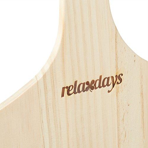 Relaxdays Pizzaschieber XXL aus Holz mit extra langem Griff - 4