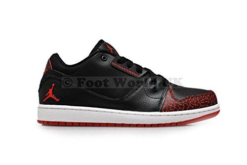 Herren Turnschuhe Nike Air Jordan 1 Flight Sneaker Schuhe 654465 black gym red white 012