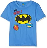 DC Comics Jungen T-Shirt Batman Gotham, Blau (Blue 18-4043 TC), 8 Jahre