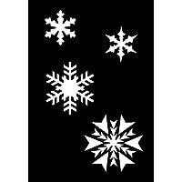 Weihnachten, SNOWFLAKES, Airbrush, Wall Art, Selbstbemalen Schablone, aus echtem Mylar RE-nutzbar 125 Mikron A4