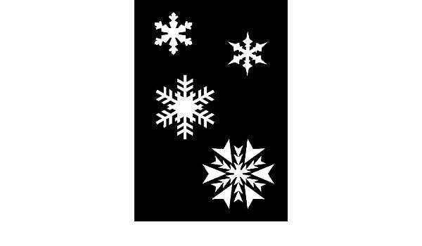 Schablone 125//µm aus Mylar Airbrush Schneeflocken A3 Wand-Kunst wiederverwendbar