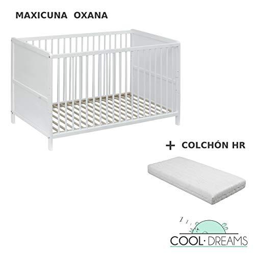 Maxicuna convertible en cama Oxana + colchón HR 140x70