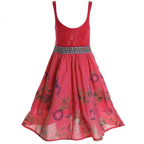 BEZLIT Mädchen Kinder Spitze Kleid Peticoat Fest Kleider Sommerkleid Kostüm 20423 Dunkelrosa Größe 164